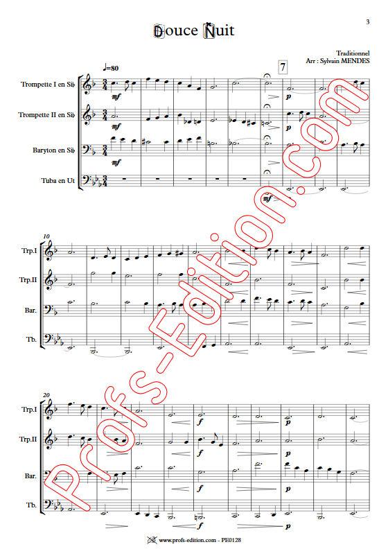 Douce Nuit - Quatuor Cuivres - TRADITIONNEL - app.scorescoreTitle