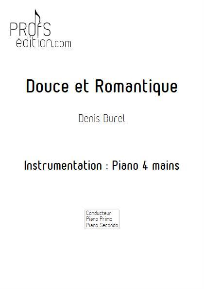 Douce et Romantique - Piano 4 mains - BUREL D. - front page