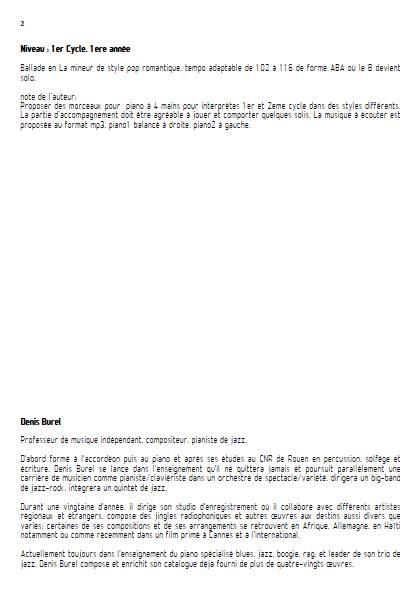 Douce et Romantique - Piano 4 mains - BUREL D. - Educationnal sheet