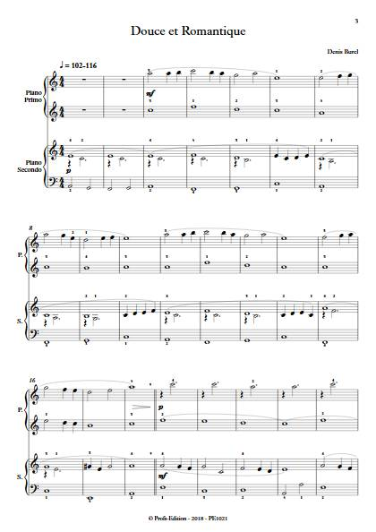 Douce et Romantique - Piano 4 mains - BUREL D. - app.scorescoreTitle