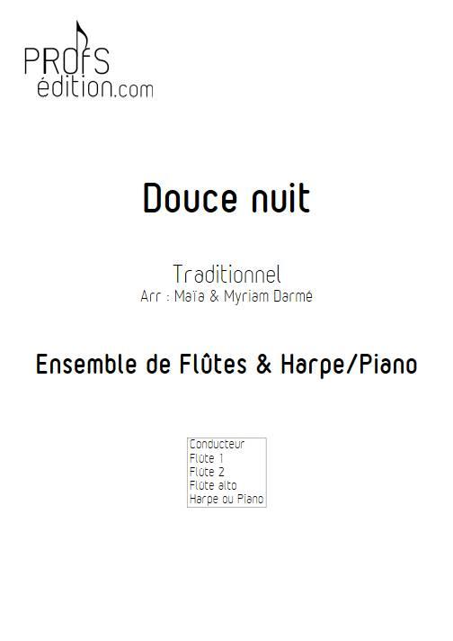 Douce nuit - Ensemble de flûte et piano ou harpe - TRADITIONNEL - front page