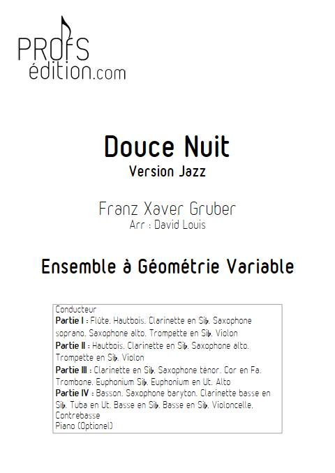 Douce nuit Jazz - Ensemble Variable - GRUBER F. X. - front page