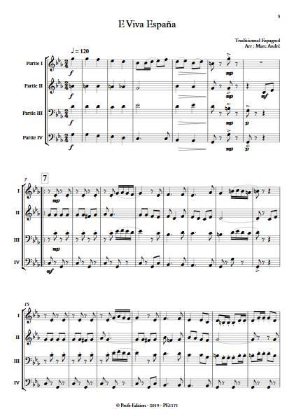 E Viva España - Ensemble Variable - Traditionnel Espagnol - app.scorescoreTitle