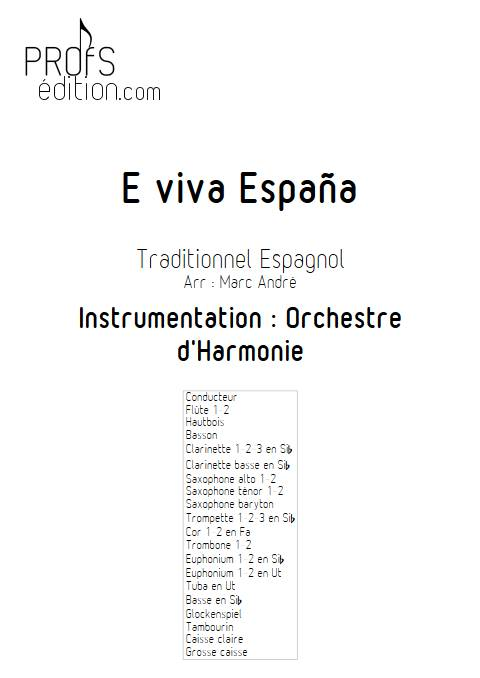 E Viva España - Orchestre d'Harmonie - Traditionnel Espagnol - front page