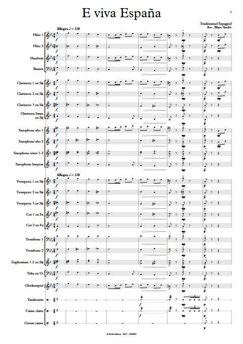 E Viva España - Orchestre d'Harmonie - Traditionnel Espagnol - app.scorescoreTitle