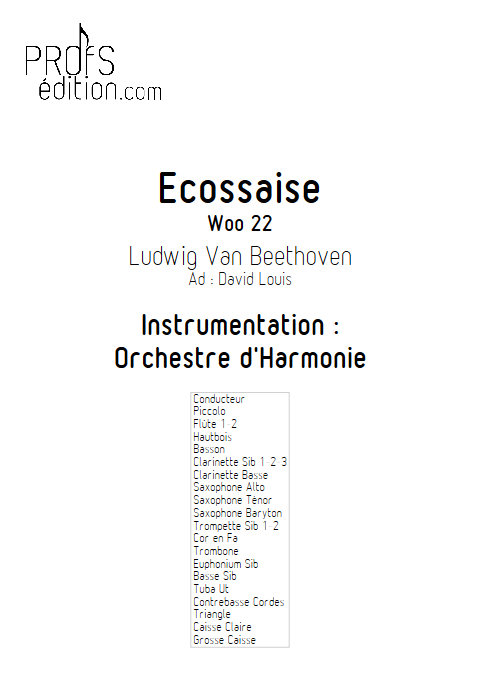 Ecossaise - Orchestre d'Harmonie - BEETHOVEN L.V. - front page