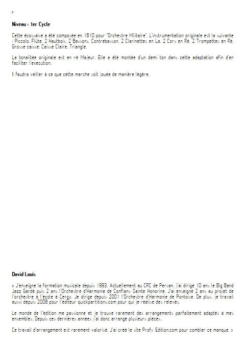 Ecossaise - Orchestre d'Harmonie - BEETHOVEN L.V. - Educationnal sheet