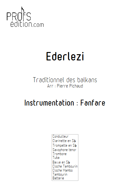 Ederlezi- Fanfare - TRADITIONNEL - front page