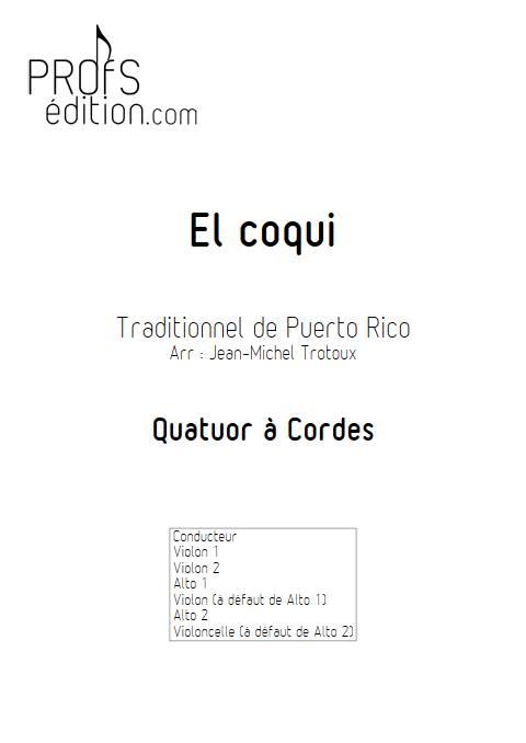 El coqui - Quatuor à Cordes - TRADITIONNEL CREOLE - front page