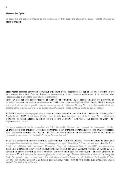 El coqui - Quatuor à Cordes - TRADITIONNEL CREOLE - Educationnal sheet