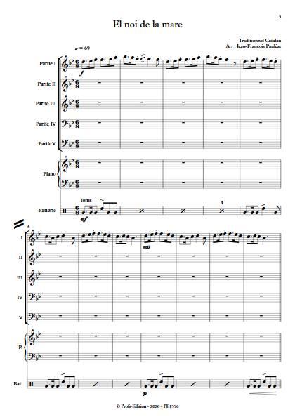 El noi de la mare - Ensemble Variable - TRADITIONNEL CATALAN - app.scorescoreTitle