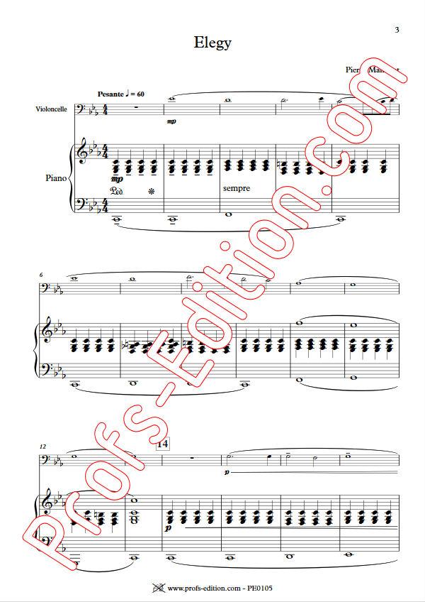 Elegy - Duo Violoncelle & Piano - MANCHOT P. - app.scorescoreTitle