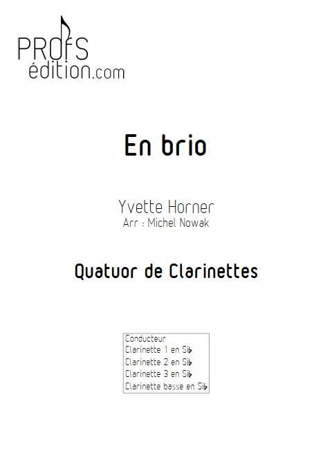 En brio - Quatuor de Clarinettes - HORNER Y. - front page