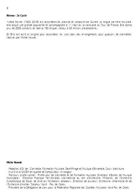 En brio - Quatuor de Clarinettes - HORNER Y. - Educationnal sheet