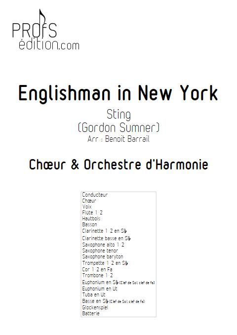 Englishman in New York - Orchestre d'Harmonie - STING - front page