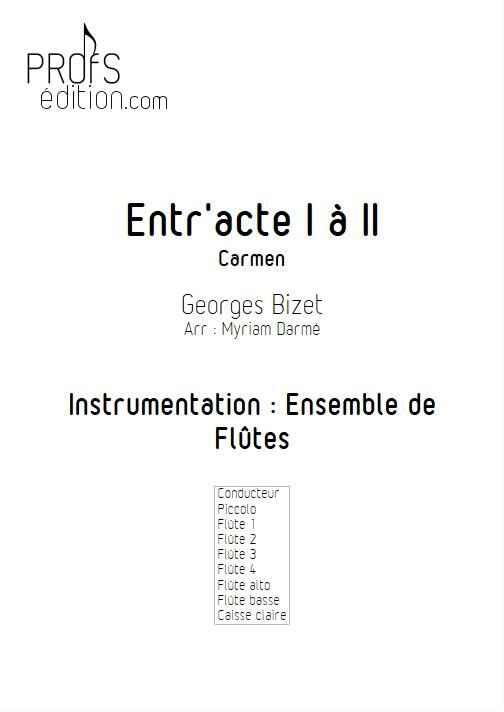 Entracte - Ensemble de Flûtes - BIZET. G. - front page