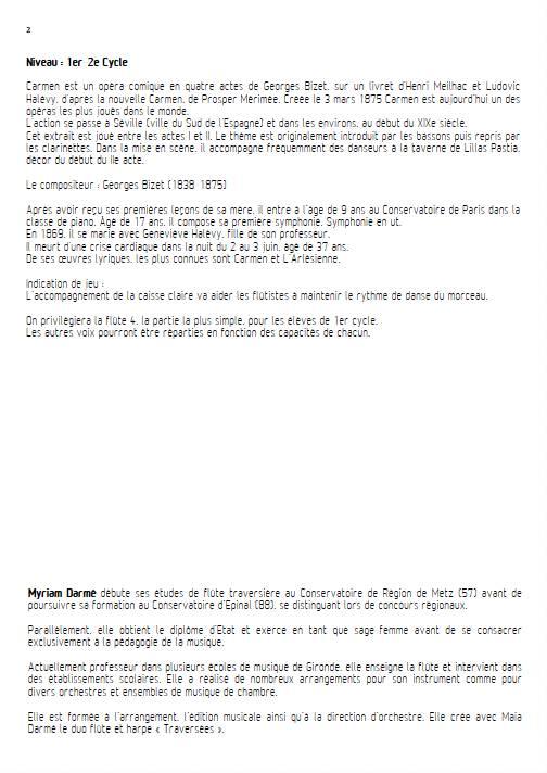 Entracte - Ensemble de Flûtes - BIZET. G. - Educationnal sheet