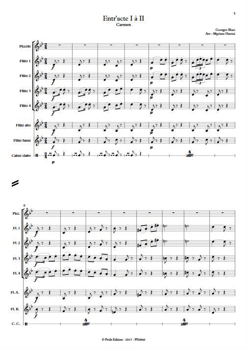 Entracte - Ensemble de Flûtes - BIZET. G. - app.scorescoreTitle