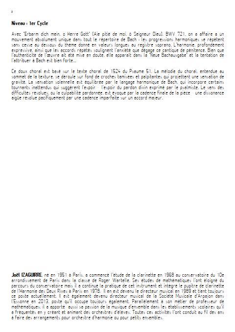 Erbarm'dich mein, o Herre Gott - Orchestre d'Harmonie - BACH J. S. - Educationnal sheet