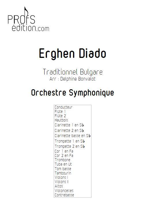 Erghen diado - Orchestre Symphonique - BONVALOT D. - front page