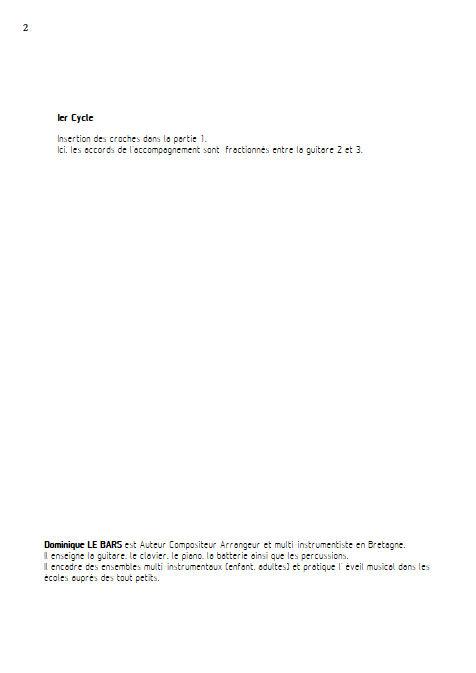 Espagnole - Trios Guitare - LE BARS D. - Educationnal sheet