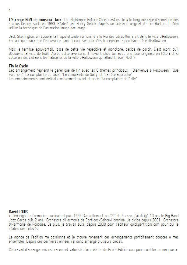 L'étrange Noël de Monsieur Jack - Orchestre Harmonie - ELFMAN D. - Educationnal sheet