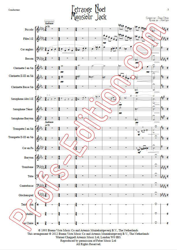 L'étrange Noël de Monsieur Jack - Orchestre Harmonie - ELFMAN D. - app.scorescoreTitle