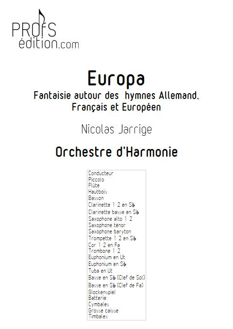 Europa - Orchestre d'Harmonie - JARRIGE N. - front page