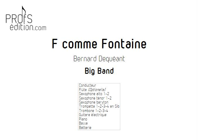 F comme Fontaine - Big Band - DECQUEANT B. - front page