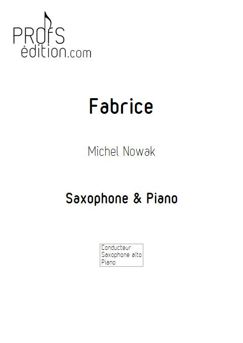 Fabrice - Saxophlne & Piano - NOWAK M. - front page
