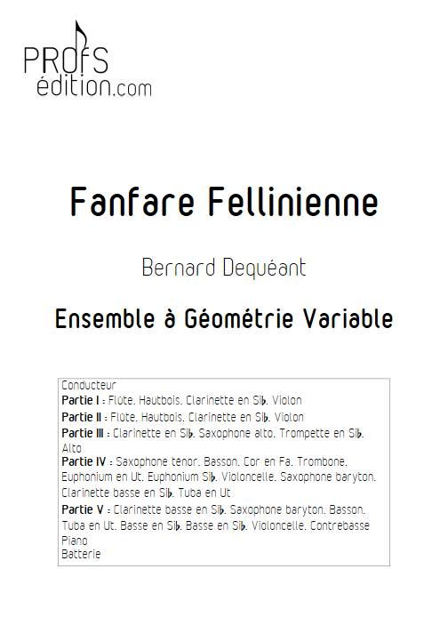 Fanfare Fellinienne - Ensemble Variable - DEQUEANT B. - front page