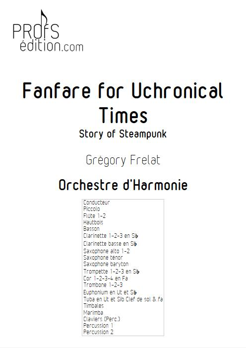 Fanfare for Uchronical Times - Orchestre d'Harmonie - FRELAT G. - front page