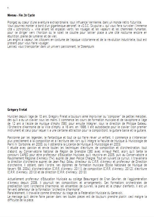 Fanfare for Uchronical Times - Orchestre d'Harmonie - FRELAT G. - Educationnal sheet