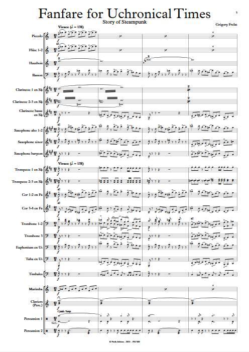 Fanfare for Uchronical Times - Orchestre d'Harmonie - FRELAT G. - app.scorescoreTitle