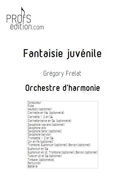Fantaisie Juvénile - Orchestre d'Harmonie - FRELAT G. - front page