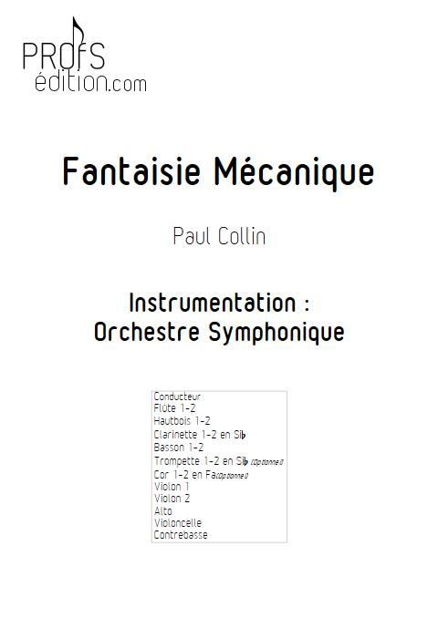 Fantaisie Mécanique - Orchestre Symphonique - COLLIN P. - front page
