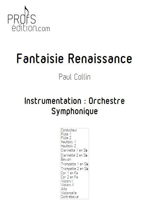 Fantaisie Renaissance - Orchestre Symphonique - COLLIN P. - front page