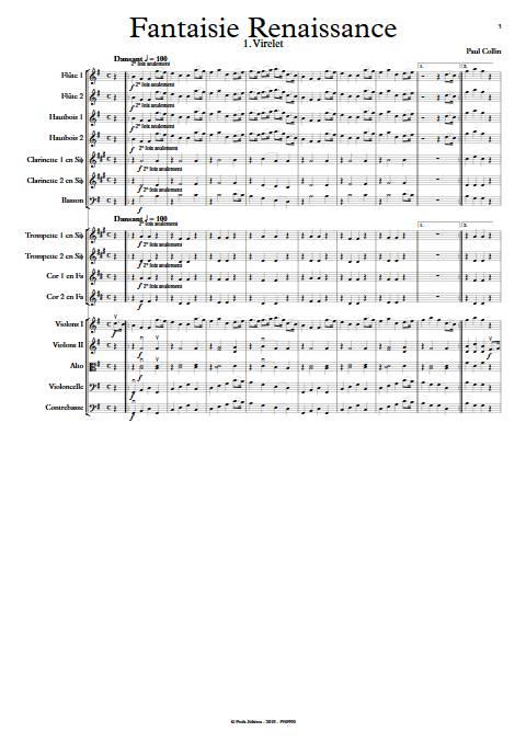 Fantaisie Renaissance - Orchestre Symphonique - COLLIN P. - app.scorescoreTitle