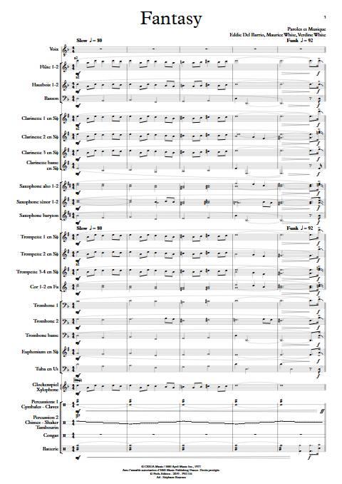 Fantasy - Chant et Orchestre d'Harmonie - EARTH WIND AND FIRE - app.scorescoreTitle