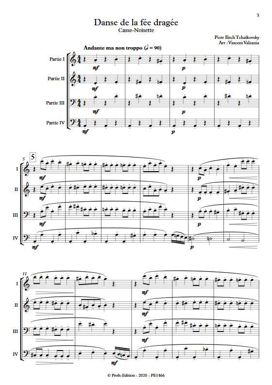 Danse de la fée dragée - Ensemble Variable - TCHAIKOVSKY P.I. - app.scorescoreTitle