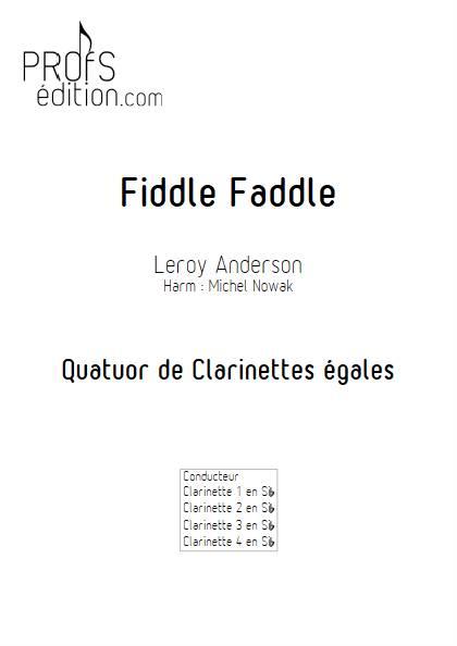 Fiddle Faddle - Quatuor de Clarinettes égales - ANDERSON L. - front page