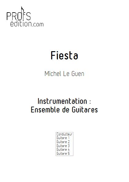 Fiesta - Ensemble de Guitares - LE GUEN M. - front page
