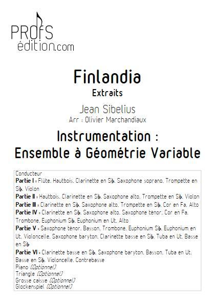 Finlandia - Ensemble Variable - SIBELIUS J. - front page