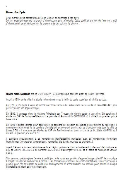Finlandia - Ensemble Variable - SIBELIUS J. - Educationnal sheet
