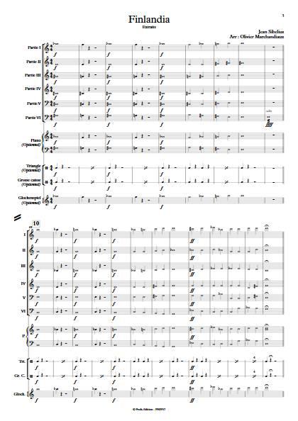 Finlandia - Ensemble Variable - SIBELIUS J. - app.scorescoreTitle