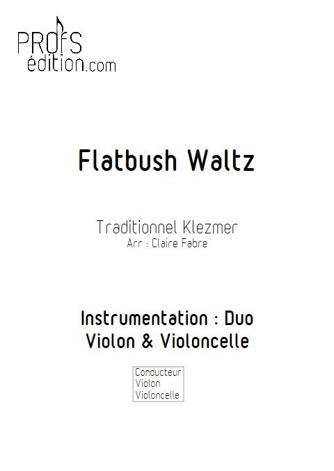 Flatbush Waltz - Duo Violon Violoncelle - TRADITIONNEL KLEZMER - front page