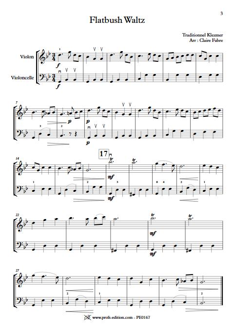 Flatbush Waltz - Duo Violon Violoncelle - TRADITIONNEL KLEZMER - app.scorescoreTitle