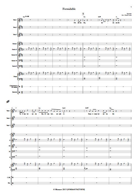 Formidable - Ensemble à Géométrie Variable - STROMAE - app.scorescoreTitle