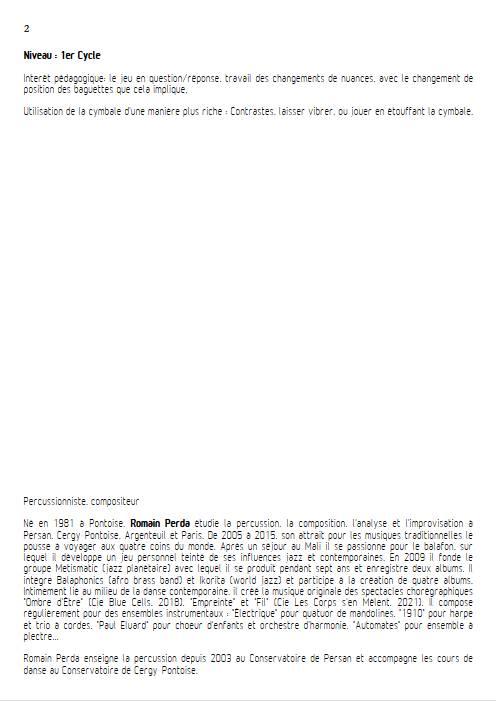 Fortement Piano - Duo Percussions - R. PERDA - app.scorescoreTitle