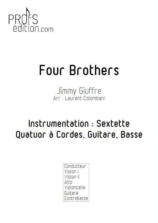 Four Brothers - Sextuor à Cordes - COLOMBANI L. - front page